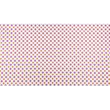 TB103-WH1 From the Desk of... - Daisies in Circles - White Fabric 2