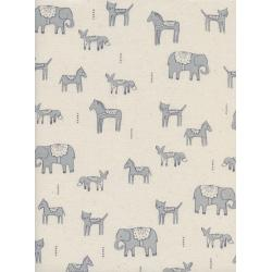 A4044-001 Flower Shop - Dala Friends - Grey Unbleached Cotton Fabric
