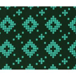 A4008-003 Mesa - Tile - Evergreen Unbleached Cotton Fabric