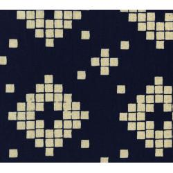 A4014-032 Mesa - Tile - Navy Canvas Fabric