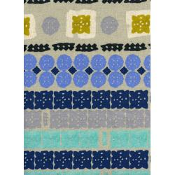 A4023-022 Paper Bandana - Paper Cuts - Sky Canvas Fabric