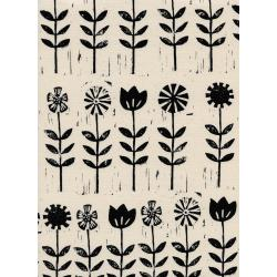 A4056-003 Sienna - Wildflower - Ink Unbleached Cotton Fabric