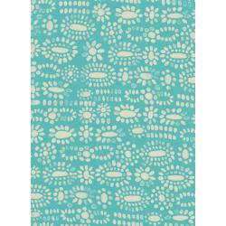A4059-035 Sienna - Moonstone - Turquoise Rayon Fabric