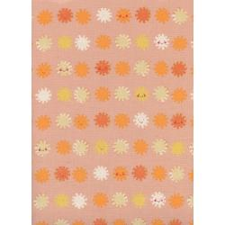 A4063-002 Sunshine - Sunshine - Peach Unbleached Cotton Fabric