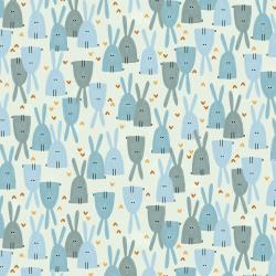 AE101-SK3 Dear Friends - Love in the Air - Sky Fabric