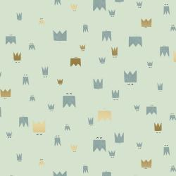 AE103-MI3M Dear Friends - Royal Folk - Mint Metallic Fabric