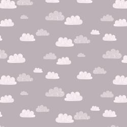 AE204-GY2 Summer Skies - Summer Clouds - Gray Fabric