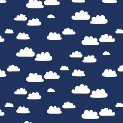 AE204-NI5 Summer Skies - Summer Clouds - Night Fabric
