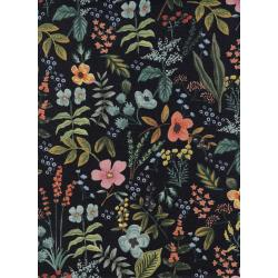 AB8054-022 Amalfi - Herb Garden - Midnight Canvas Fabric