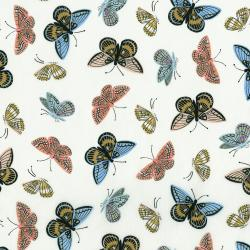 AB8063-011 English Garden - Monarch - Cream Lawn Metallic Fabric