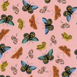 AB8063-021 English Garden - Monarch - Peach Lawn Metallic Fabric