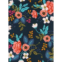 AB8008-025 Les Fleurs - Birch Floral - Navy Rayon Fabric