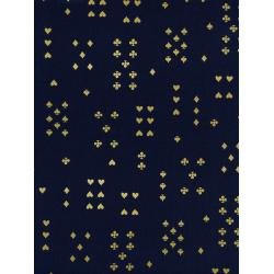 AB8021-041 Wonderland - Follow Suit - Navy Lawn Metallic Fabric
