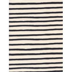 AB8022-002 Wonderland - Cheshire Stripe - White Unbleached Cotton Fabric