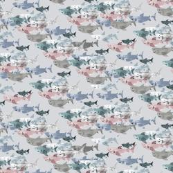 CC102-CL2 Kaikoura - Shark Frenzy - Cloud Fabric