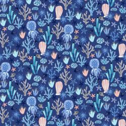CC103-MA2 Kaikoura - Under the Sea - Marine Fabric