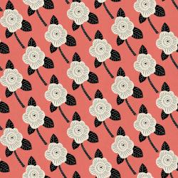 CF101-CO3U Kibori - Chico - Coral Unbleached Fabric