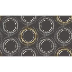 CF104-CH3M Kibori - Tara - Charcoal Metallic Fabric