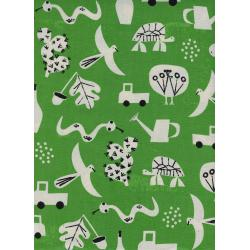 CB9004-001 Spectacle - Flourish - Green Unbleached Cotton Fabric