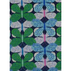 C6008-012 Beauty Shop - Butterfly - Navy Canvas Fabric