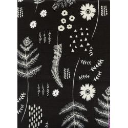 C5024-001 Black & White - Fern Book - White/Black Fabric