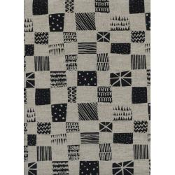 C5060-012 Black & White - Swatch Canvas Fabric