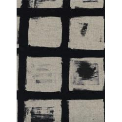 C5061-012 Black & White - Woodblock Canvas Fabric