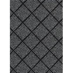 C5063-001 Black & White - Lattice Dots Fabric