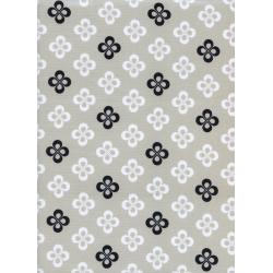 C5065-001 Black & White - Clover Fabric