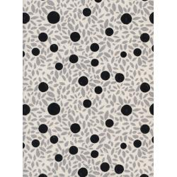 C5123-001 Black & White - Grove - Natural Unbleached Cotton Fabric