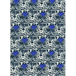 C5038-001 Bluebird - Tiger Heat - Blue Fabric