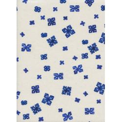C5044-002 Bluebird - Paper Cuts - Natural Unbleached Cotton Fabric