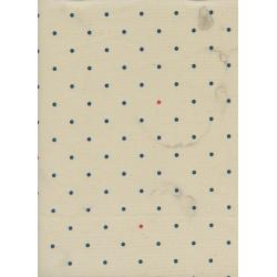 C5051-001 Bluebird - Tea Stained Dots - Ivory Unbleached Cotton Fabric