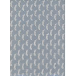 C5052-002 Bluebird - Leaflet - Natural Unbleached Cotton Fabric