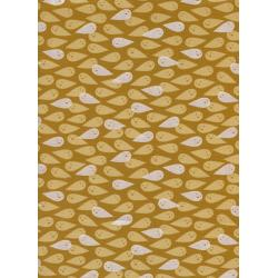C5088-002 Boo - Ghosties - Mustard Pearlescent Fabric
