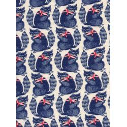 C5095-001 S.S. Bluebird - Snacks - Navy Unbleached Cotton Fabric