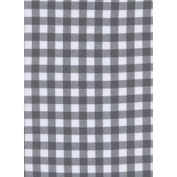 "C5091-003 Checkers - 1/2"" Gingham - Chalkboard Fabric"