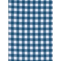 "C5091-005 Checkers - 1/2"" Gingham - Teal Fabric"