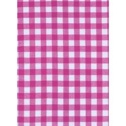 "C5091-008 Checkers - 1/2"" Gingham - Berry Fabric"