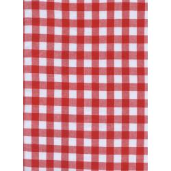 "C5091-010 Checkers - 1/2"" Gingham - Santa Fabric"