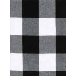 "C5092-001 Checkers - 2.5"" Gingham - Black Fabric"