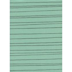 C5149-002 Cozy - Pencil Stripe - Mint Unbleached Cotton Fabric