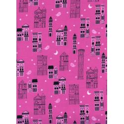 C5193-002 Eclipse - Haunted City - Pink Fabric