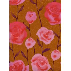 C5179-001 Firelight - Roses - Caramel Fabric