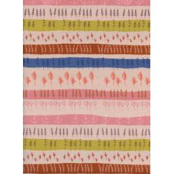 C5180-001 Firelight - Herb Garden - Peach Unbleached Cotton Fabric