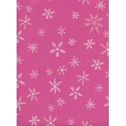 C5190-002 Frost - Flurry - Pink Unbleached Cotton Fabric
