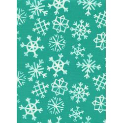 C5072-001 Garland - Snowflakes - Teal Fabric