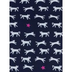 C5151-017 Hello - Snow Leopard - Navy Knit Fabric