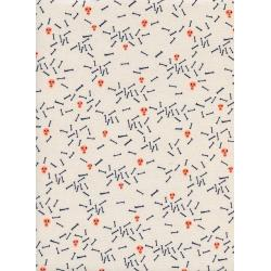 C5129-001 Lil' Monsters - Sugar - Natural Unbleached Cotton Neon Pigment Fabric