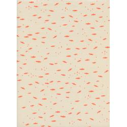 C5131-001 Lil' Monsters - Fresh Bats - Peach Unbleached Cotton Fabric